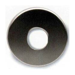 Rosace ronde, trou rond Ø 22 mm, inox brossé 316